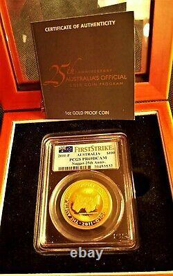 Gorgeous 2011 Australian 25th Anniversary Gold Nugget Coin PCGS PR69 DCAM