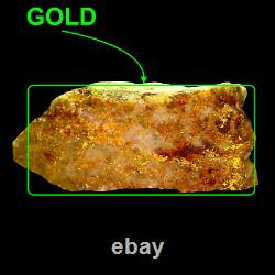 HUGE 843 GRAMS / 29.74oz Gold Bearing Quartz Specimen from Victoria, Australia