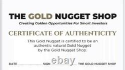Huge natural gold nugget from Australia. 351.61 Grams. With Shipping Insurance