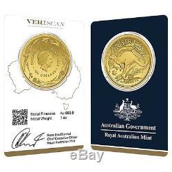 Lot of 2 2017 1 oz Gold Kangaroo Coin Royal Australian Mint Veriscan. 9999 Fin