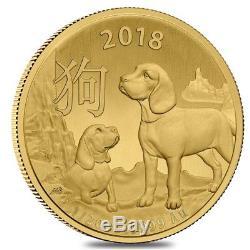 Lot of 2 2018 1/20 oz Gold Lunar Year of the Dog Coin BU Royal Australian Mint