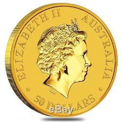 Lot of 2 2018 1/2 oz Australian Gold Kangaroo Perth Mint Coin. 9999 Fine BU In
