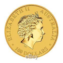 Lot of 3 Gold 2017 Australian Gold Kangaroo 1oz $100 Coins. 9999 Fine BU