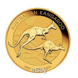 Lot of 3 Gold 2018 Australian Gold 1oz Kangaroo $100.9999 Fine BU Coins