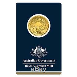 Lot of 5 2017 1/4 oz Gold Kangaroo Coin Royal Australian Mint Veriscan. 9999 F