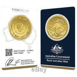 Lot of 5 2017 1 oz Gold Kangaroo Coin Royal Australian Mint Veriscan. 9999 Fin