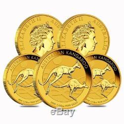 Lot of 5 2018 1/10 oz Australian Gold Kangaroo Perth Mint Coin. 9999 Fine BU