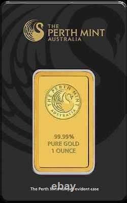 Lot of 5 Perth Mint 1 oz. 9999 Gold Bars New Sealed With Assay Card 24 Karat