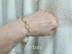 Lovely Opal & Solid 14k Gold Bracelet