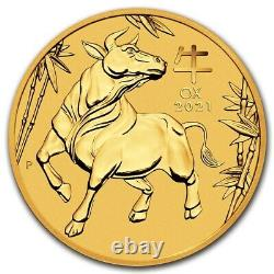 NEW 2021 1/20thOZ PURE. 9999 GOLD YEAR of the OX PERTH MINT GEM $178.88