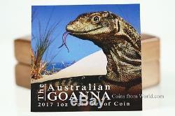 Niue 2017 100$ Remarkable Reptiles Australian Goanna 5 1oz Gold Proof Coin