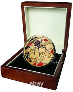 Niue 2018 100$ Deadly & Dangerous Red-Back Spider 1 1 Oz Gold Proof