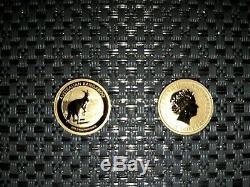 ONE(1) 2013 1/10 oz Australian Gold Coin. 9999 fine