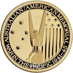 ON SALE! 1/4 oz U. S. Australian WWII Gold Coin (BU)