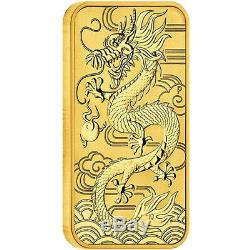 ON SALE! 2018 1 oz Australian Rectangular Gold Dragon Coin (BU)