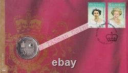 PNC Australia 2002 Golden Jubilee QEII Accession RAM 50c Commemorative Coin