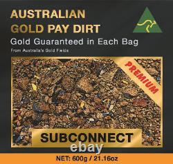 PREMIUM 600g / 21.16oz Australian Natural Gold Pay Dirt Pickers, Nuggets ++