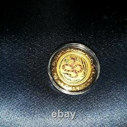 Perth Mint 2013 Coloured/Colored Lunar Year of the Snake 1/20 Oz Gold Coin