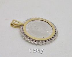 Platinum & 14K Yellow Gold 1988 Australian Koala Bear Diamond Coin Pendant
