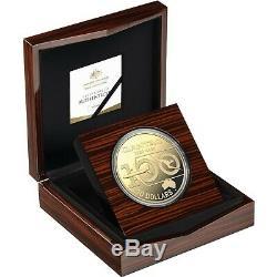 Qantas Royal Australian Mint Centenary 2020 $30 1kg Silver Proof Gold Pl. Coin