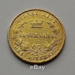 Queen Victoria Sovereign Australian Sydney Mint 1868 Gold Coin