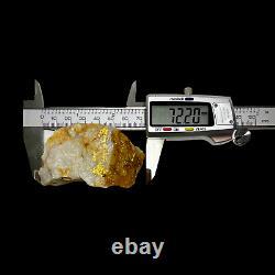 RARE 106 GRAMS / 3.74oz Gold Bearing Quartz Specimen from Victoria, Australia