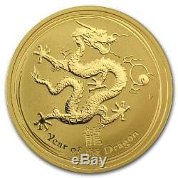 RARE 2012 1OZ PURE. 9999 GOLD YEAR of the DRAGON PERTH MINT $2,388.88