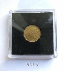 RARE GOLD COIN 1875 Australian Half Sovereign Victoria Young Head
