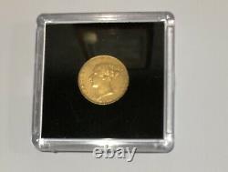 RARE GOLD COIN 1876 Australian Half Sovereign Victoria Young Head