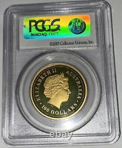Rare 2006 Australian Perth 1 oz S1 Lunar Gold Proof Dog PR69DCAM PCGS First St