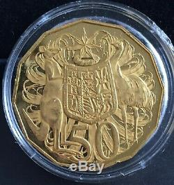 Royal Australian Mint 40th Anniversary 2009 50c Gold Proof coin Mintage just 800