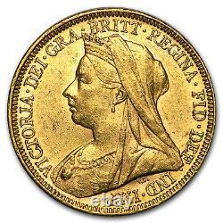 SPECIAL PRICE! 1893-1901-M Australia Gold Sovereign Victoria Veil Head AU