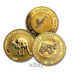 SPECIAL PRICE! 1 oz Gold Australian Kangaroo Coin BU Random Year SKU #168042