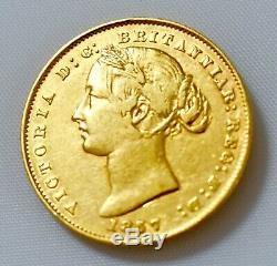 SYDNEY MINT 1857 Australian GOLD SOVEREIGN VF/EF Rare Coin Investment Grade