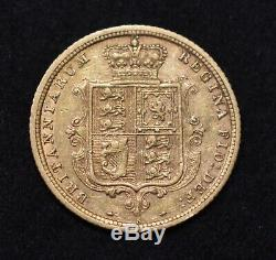Scarce Sydney Mint Australian Gold 1886s Half Sovereign VF/G-VF Rare Coin