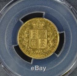 Sovereign 1873-M PCGS AU55 Shield Sov Gold S-3854 Australia Rare Type