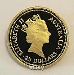 The 1987 Australian Nugget A, 4 Proof Gold Coins Issue (1.85 Oz) + Box & COA