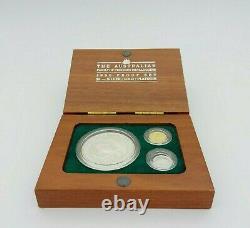 The Australian 1990 Proof Set $5 Silver Gold Platinum Coin Set