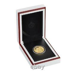 UNA AND THE LION 2021 2 Pounds 1/4 oz Pure Gold Proof Coin St. Helena