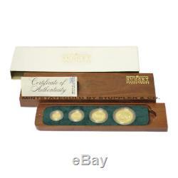 Very Rare 1988 Australian 4 Gold Nugget Proof coin set orig Display box & COA