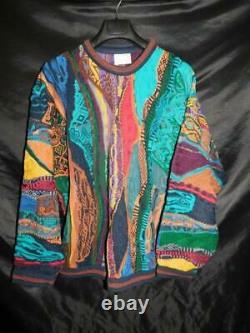 Vintage Authentic COOGI Australia XL Cotton Sweater Red Blue Gold Green Crew Men