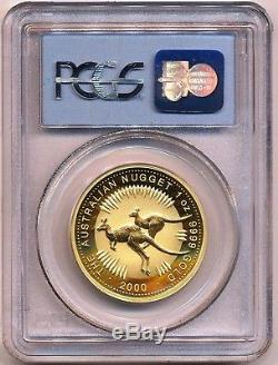 WTC Ground Zero Recovery 2000 Australian $100 Gold Nugget Gem Uncirculated PCGS
